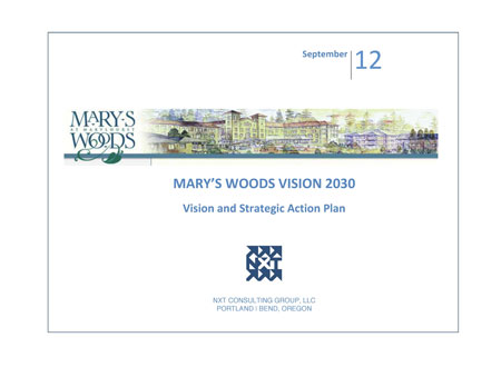 Mary's Woods at Marylhurst Strategic Visioning Process nonprofit consulting